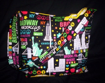 New york city Brooklyn Bridge NYC I love ny TOTE PURSE
