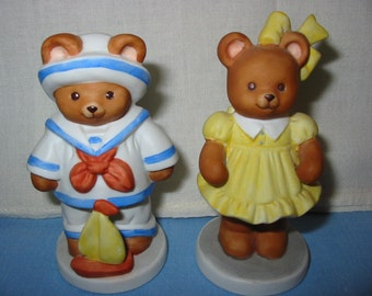 Butterfield Bear And Bonnie Beth Adorable Pair Of  Teddy Bear Figurines