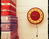 Beauty shop clock