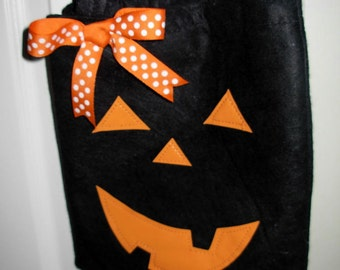 Black Jack O Lantern Treat Bag
