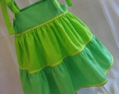 Annabelle Tiered Dress in Vibrant Greens, Size 2T