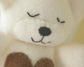 Ivory Teddy bear with Chocolate heart