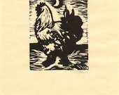 Rooster by the Moon