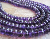 African Amethyst Faceted Rondelles