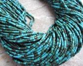Turquoise Heishi or little tube shape FULL STRAND