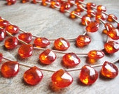 Zircon Beads, Luxe AAA, Zircon Natural (NOT CZs) Fire Opal Color Faceted Briolettes, Loveofjewelry, December Birthstone, SKU 3328