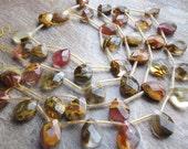 Multi Quartz Beads, Volcano Quartz Beads, Pear Briolettes, 10mm x 14mm, Loveofjewelry, Multi Color Gemstone, SKU 2188A