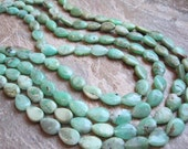 Chrysoprase Smooth Top to Bottom Drilled Pear Full Strand