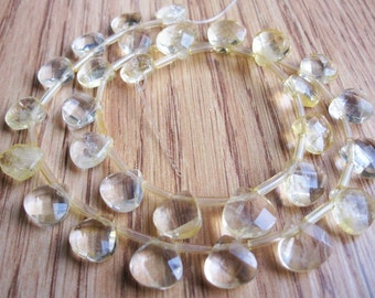 Citrine Briolettes Beads, 10.5mm, Faceted Briolettes, Yellow Gemstone, November Birthstone, SKU 679