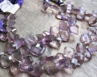 Amethyst Briolette Beads, Faceted Diamond Briolettes, 9-13mm, Loveofjewelry, February Birthstone, SKU 2214A