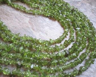 Peridot Beads, 4-5mm, Peridot Chips, SKU 2702A