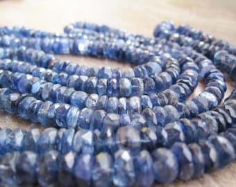 """Kyanite Beads Rondelles, 5-6mm, 7.5"""" strand, Luxe AAA, Blue Kyanite Rondelles, Weddings, Brides, Bridal, SKU 3274A"""