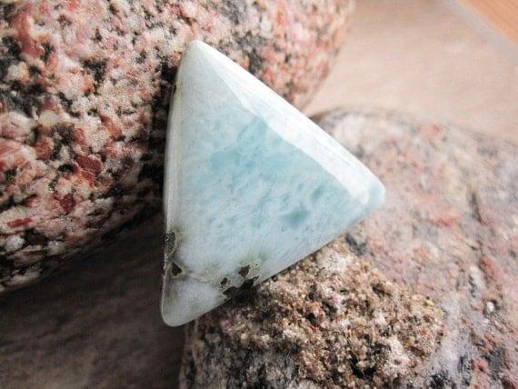Larimar Cabochon Triangle Shape