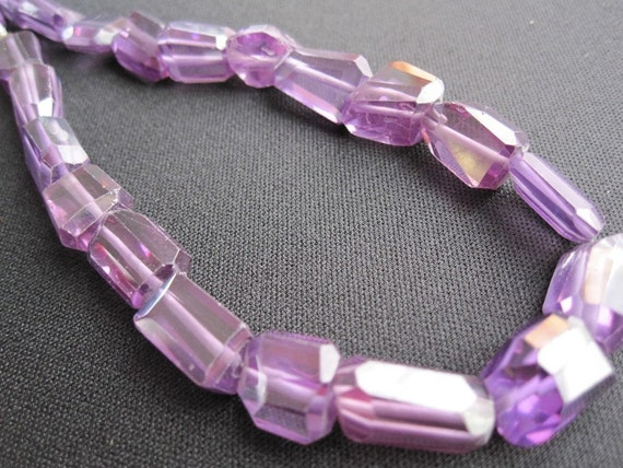 Zircon (NATURAL) Vibrant Amethyst Color Faceted Nuggets FULL STRAND Last One