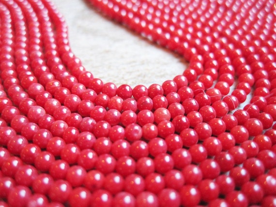 Red Coral 2mm Round FULL STRAND
