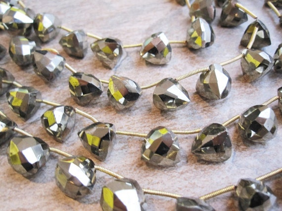 Top Quality Pyrite Faceted 3D Trillion Triangle or Pyramid Cut