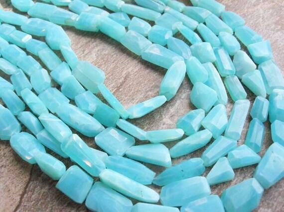 Peruvian Blue Opal Freeform Nuggets Full Strand
