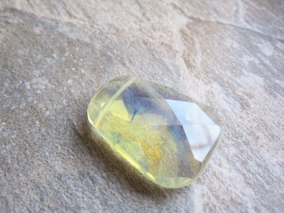 Pineapple Quartz Briolette Shaped Stone Pendant or Focal Bead