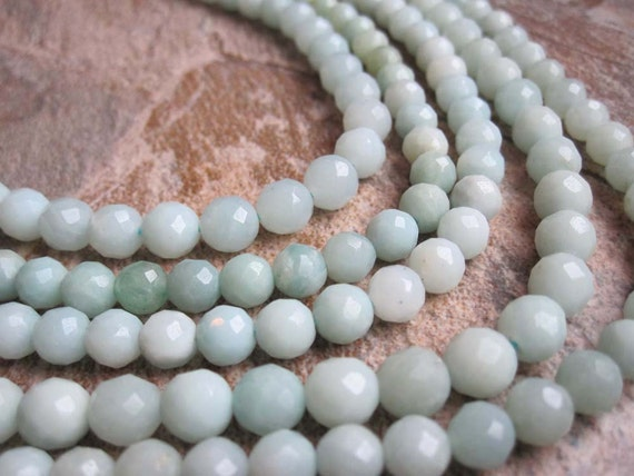 SALE  Amazonite Faceted Round Full Strand was 11.99