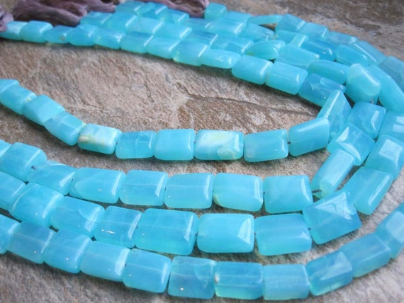 Peruvian Blue Opal Smooth Pillow Full Strand