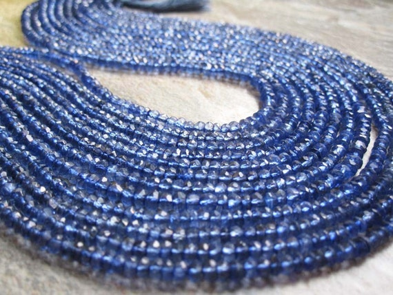 Iolite Quartz Faceted 3mm Rondelles Full Strand