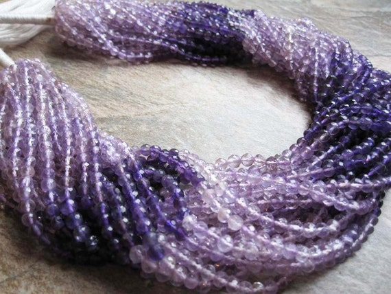 Amethyst Faceted Round Full Strand