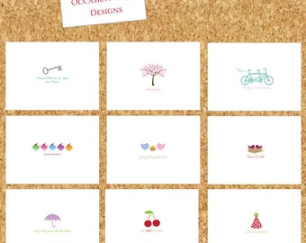 Occasion Cards / Birthday Cards / Thank You Cards / Variety Pack