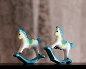 Pink Rocking Horse Earrings-for suzzettet