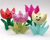 Spring Tulip and Summer Daisy Flower Amigurumi Plush Toy Soft Sculpture Knitting Pattern