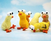 Chickies Amigurumi Easter Chick Plush Toy Knitting Pattern PDF Digital Download