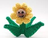 Summer Daisy Flower Amigurumi Plush Toy Soft Sculpture Knitting Pattern PDF Digital Download