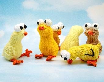 Chickies Amigurumi Easter Chick Plush Toy Knitting Pattern PDF Digital Download