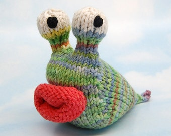 Garden Slug Amigurumi Plush Toy Knitting Pattern PDF Instant Download