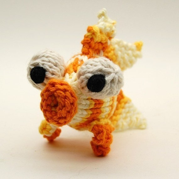 Glubby Goldfish Knitting Amigurumi Plush Toy PDF Pattern