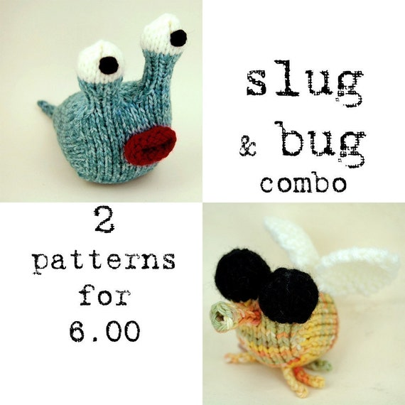 Slug 'n Bug Combo Knitting Pattern PDF Instant Download