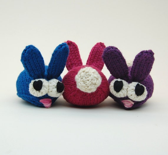 Knitting Patterns Plush Toys : Bun Bons Amigurumi Rabbit Plush Toy Knitting Pattern PDF