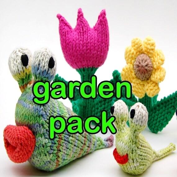 Garden Pack Amigurumi Plush Toy Knitting Patterns Digital Download