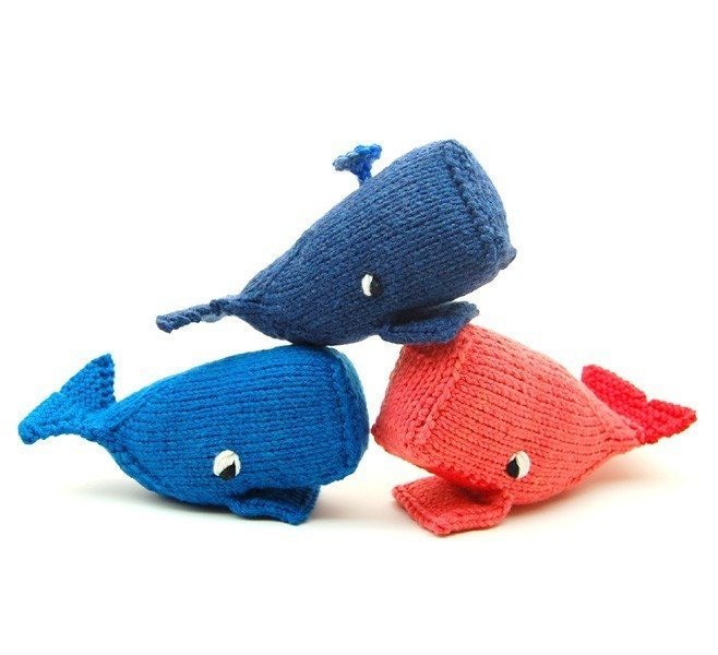 Knitting Patterns Plush Toys : Whale Amigurumi Plush Toy Knit Pattern PDF Digital Download