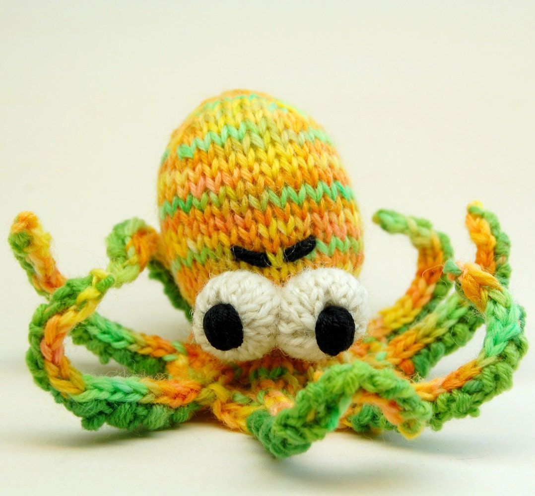 Knitting Pattern Octopus Toy : Obstinate Octopus Amigurumi Plush Toy Knitting by cheezombie