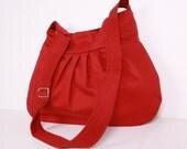 Everyday bag , Shoulder Bag, Adjustable strap, Burgundy