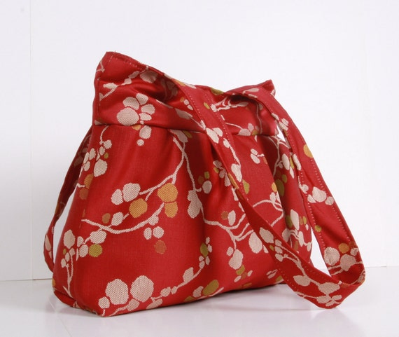 Small  Everyday Bag,Shoulder bag,Cotton with flowers