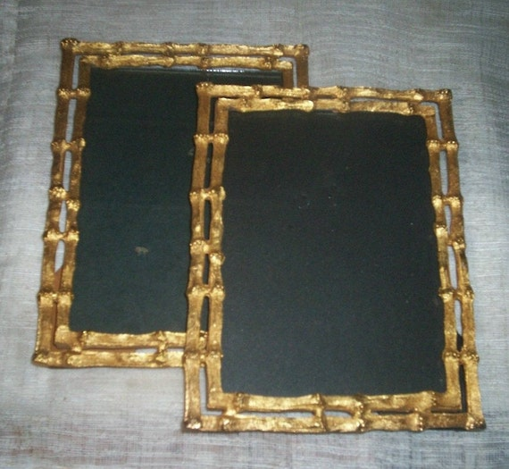 Picture Frames Gold Bamboo Vintage Hollywood Regency Frame