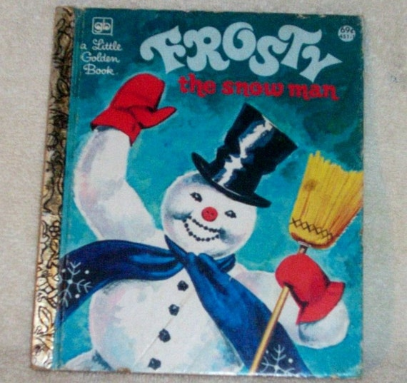Frosty The Snowman Little Golden Book Christmas 1975 Vintage