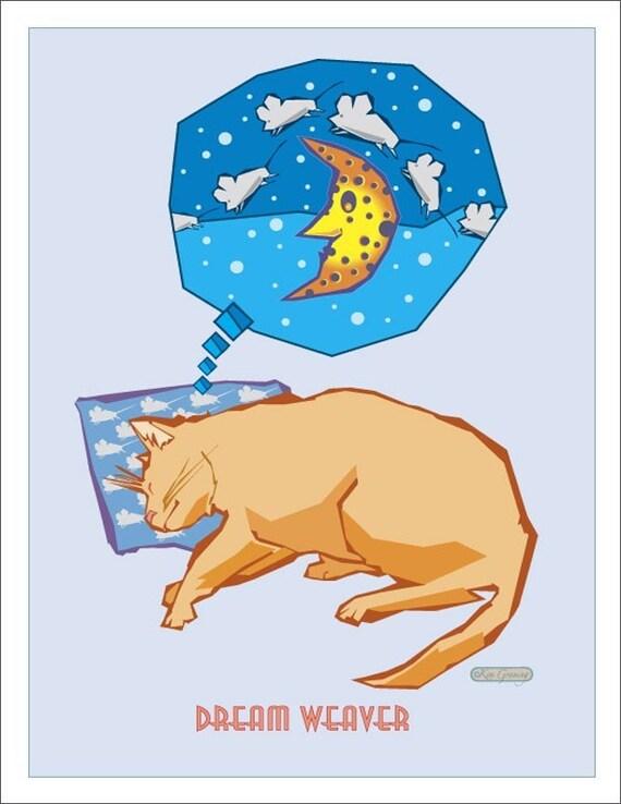 Dream weaver, Sleeping cat dreams of mice