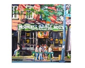 McSorley's Ale House Irish Pub New York Art NYC Art Fine Art Print 8x8 City Bar Painting by Gwen Meyerson