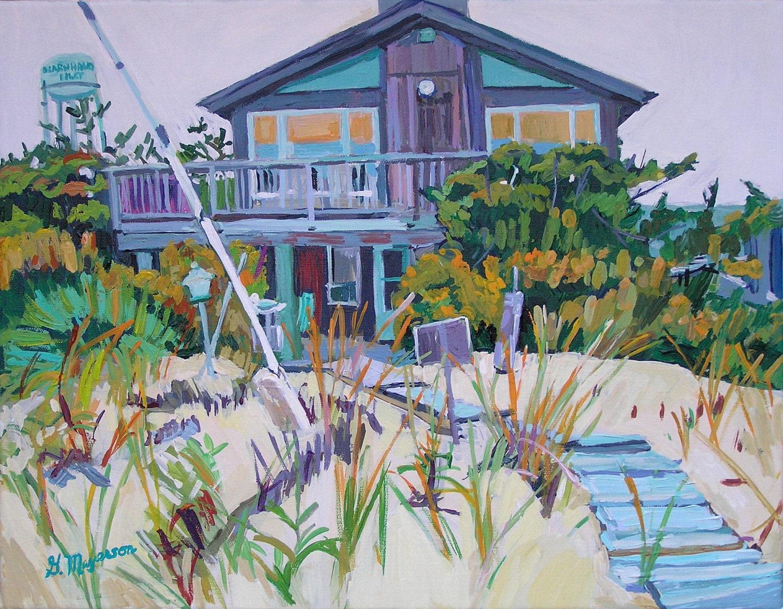 Beach house fine art print 8x10 summer vacation wall art for Beach house prints