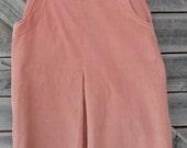 S A L E Peachy Keen Vintage corduroy A-line 50's Skirt Size 13