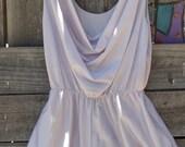 S A L E Vintage Lavender One-piece Bodysuit Romper Slip Size Small