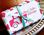 NEW Sibling or Personalized Calling Cards with Vintage Truck for boy/s - gift enclosures