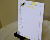 Personalized Bumble Bee Notepad